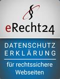 Datenschutzerklärung erstellt über eRecht24