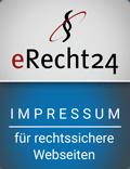 Impressum erstellt über eRecht24