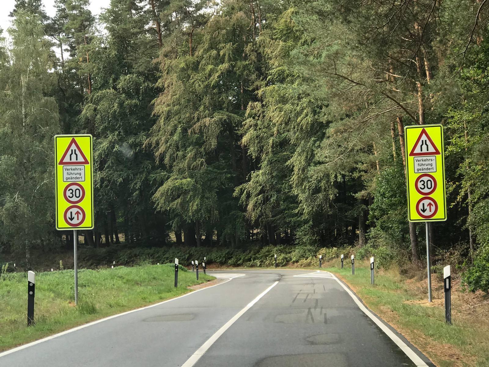 Spitzkehre in Alt Garge - geänderte Verkehrsführung