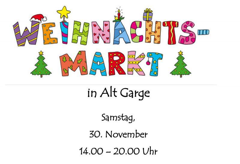 Weihnachtsmarkt in Alt Garge 2019