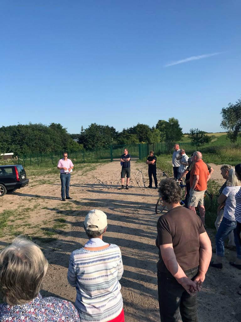 Treffen der Anwohner mit dem Bürgermeister in Alt Garge am 23. Juni 2020